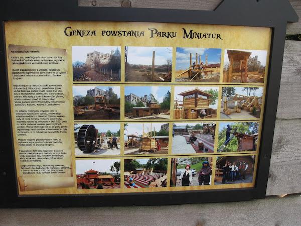 park miniatur - tablica z genezą parku