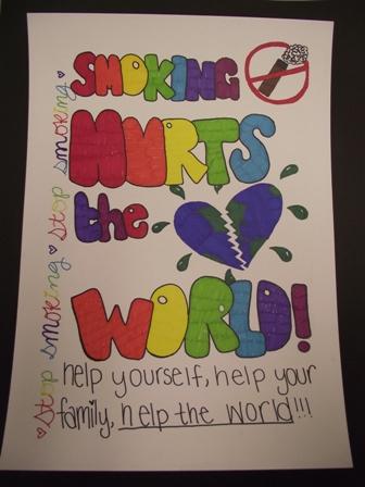 Mrs Shepherds Fabulously Amazing Art Class Anti Smoking Poster Semi Finalists