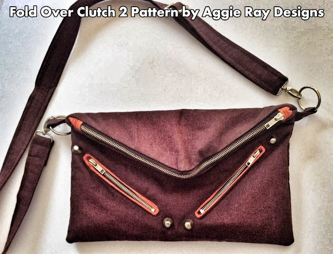 Fold Over Clutch 2 Sewing Pattern by AggieRay Designs