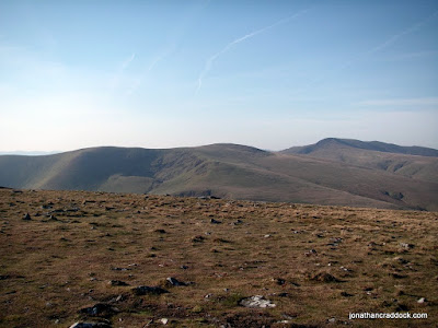 Looking towards Blencathra from path to Carrock Fell