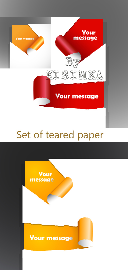 Stock: Set of teared paper with place for your own text