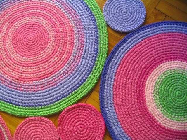 Alfombras crochet patrones imagui - Alfombras redondas ...