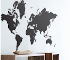 a wall sticker available at http://www.fermlivingshop.us/stickers/worldmap.html