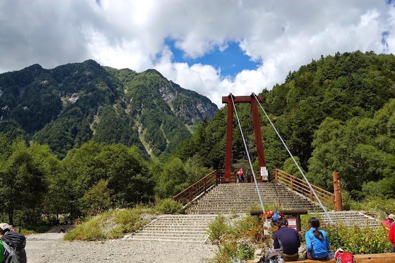 横尾、涸沢へのつり橋