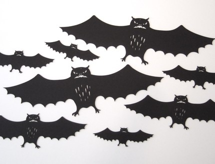 A pack of bats for hanging—they've got such character!