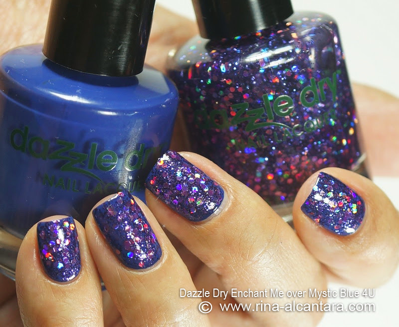 Dazzle Dry Enchant Me over Mystic Blue 4U