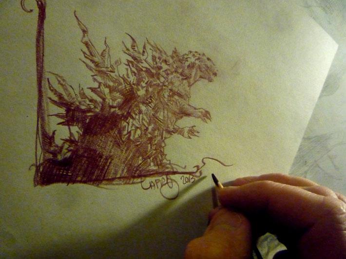 Godzilla, concept art by Jeff Lafferty