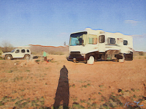 Our Campsite at Buenos Aires National Wildlife Refuge