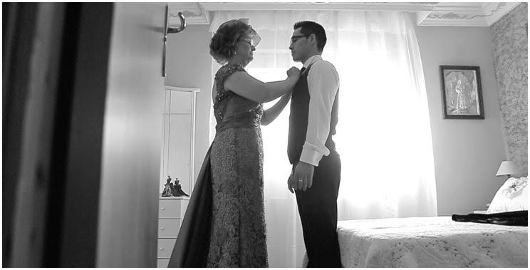 fotografías de boda en casa del novio.