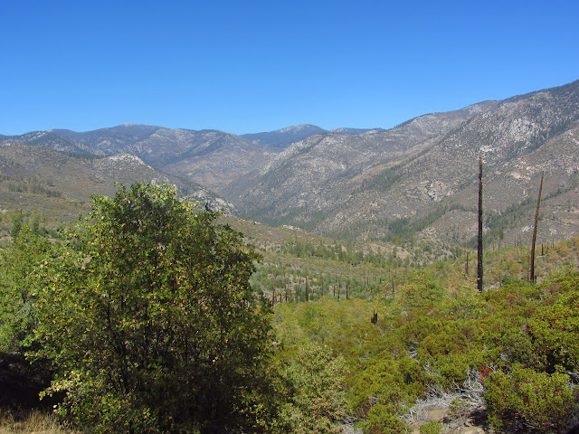 looking up Kern Canyon