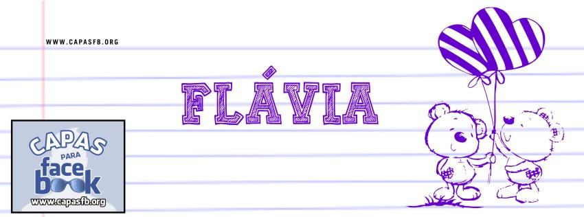 Capas para Facebook Flávia