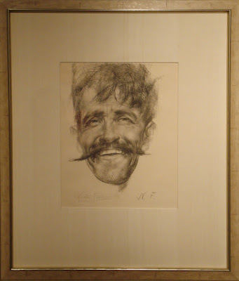 """Laughing Man with Mustache"""