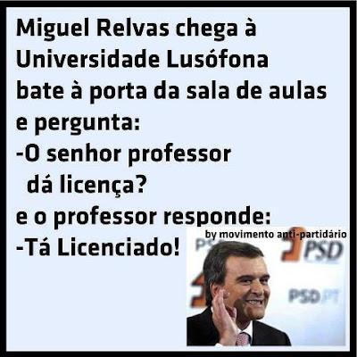 Miguel Relvas licenciado pela Universidade Lusófona