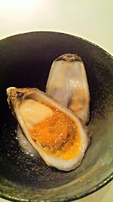 Castagna Snax: Oyster with chorizo char roe from Castagna Restaurant
