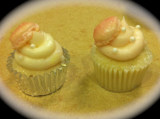 Mini Cupcake With French Macaroon Accent