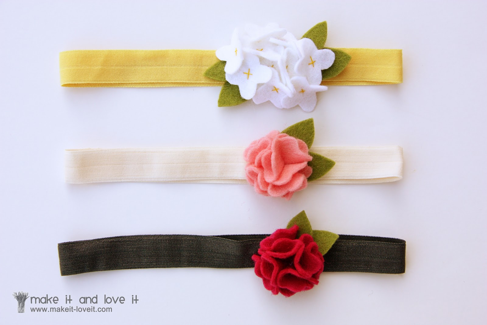 9d6ec17cf But if you'd rather place them on a headband, attach them to some super  soft fold over elastic.