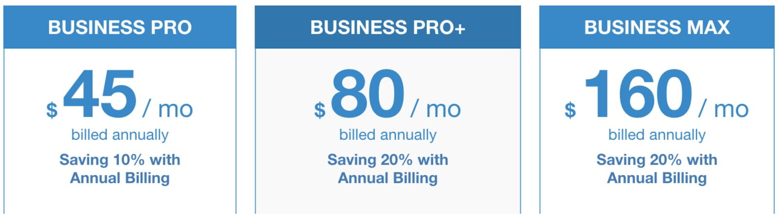 ExaVault pricing with annual billing.