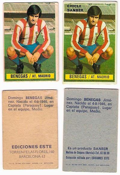 At. Madrid - Ediciones ESTE 74/75 Chicles Sanber