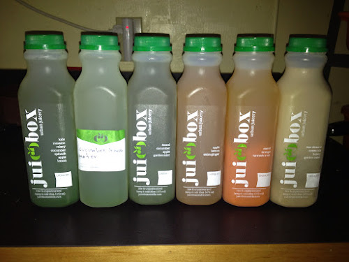 a day's worth of JuiceBox juice