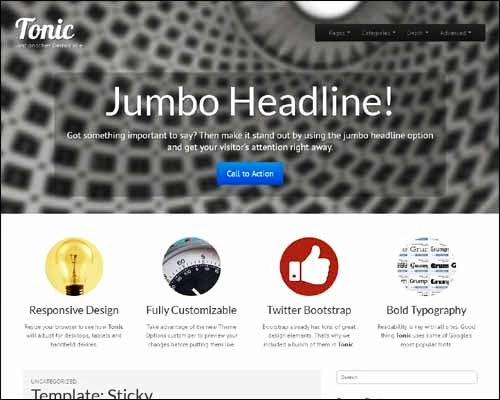 theme wordpress tonic