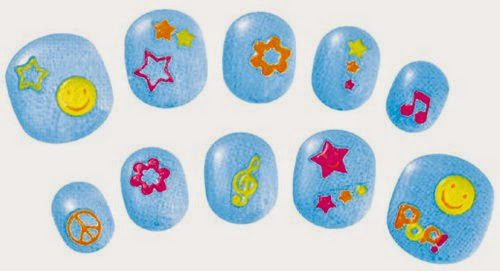 Bộ trang trí móng tay màu xanh dương cho bé có những phút giây thú vị