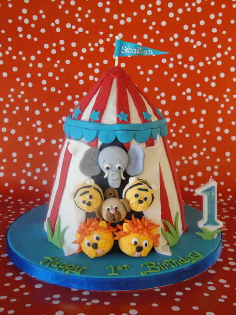 A I love this circus tent cake that I created for my gorgeous nephew Sebastian on his first birthday because the idea of circus animals popping their ...  sc 1 st  Kiwi Cakes - Blogspot : circus tent cake pan - memphite.com