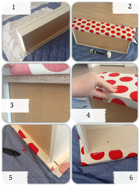 covering drawers in fabric