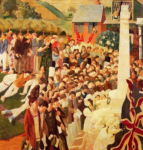 Stanley Spencer - Unveiling Cookham war memorial