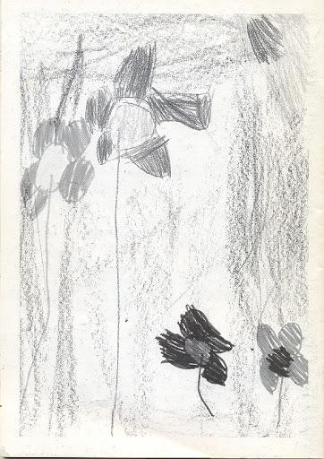 Contraportada Revista Pancrudo nº1 (1997). Dibujo realizado por Andrea Tolosa Cotoré (4 años)