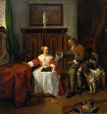 Gabriel Metsu -The Hunter's Present