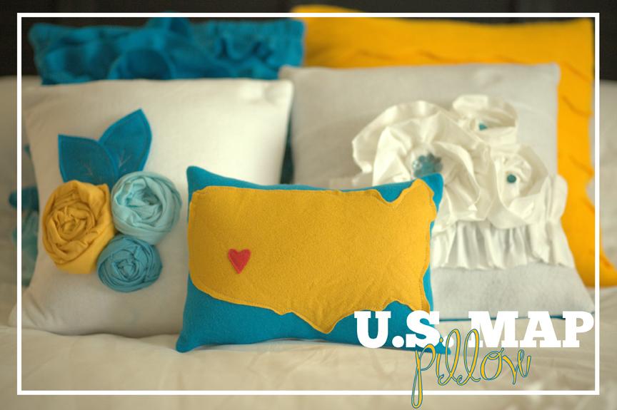 The US Map pillow tutorial Kiki Company