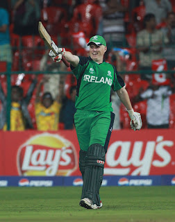 Kevin O'Brien claimed the fastest World Cup century in just 50 deliveries, England v Ireland, World Cup 2011, Bangalore, March 2, 2011