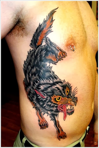 native american wolf tattoo