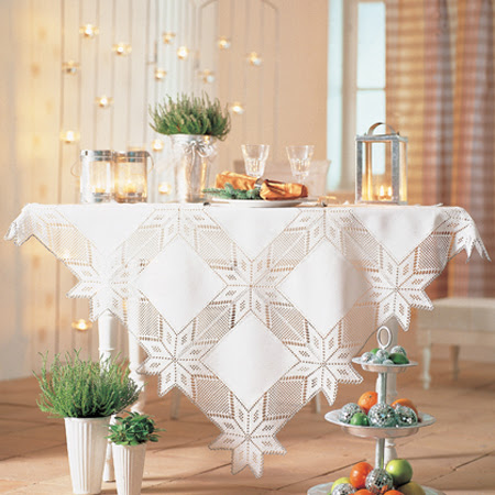 toalha croche natalina