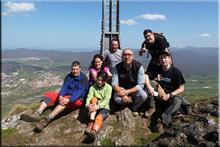 Bargagain mendiaren gailurra 1.154 m. --  2015eko apirilaren 12an