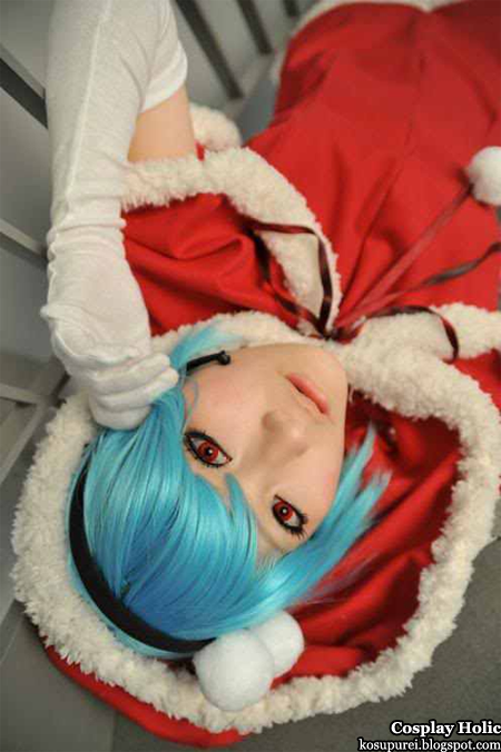 neon genesis evangelion cosplay - christmas santa ayanami rei