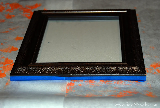 title> Painted Frames & Dollar Store Gortraits</title> | Sew Woodsy