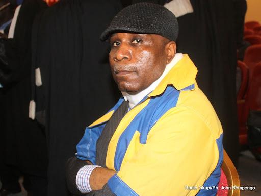 Eugene Diomi Ndongala le 16/09/2013, lors d'un procès à la cour suprême de justice à Kinshasa. Radio Okapi/Ph. John Bompengo