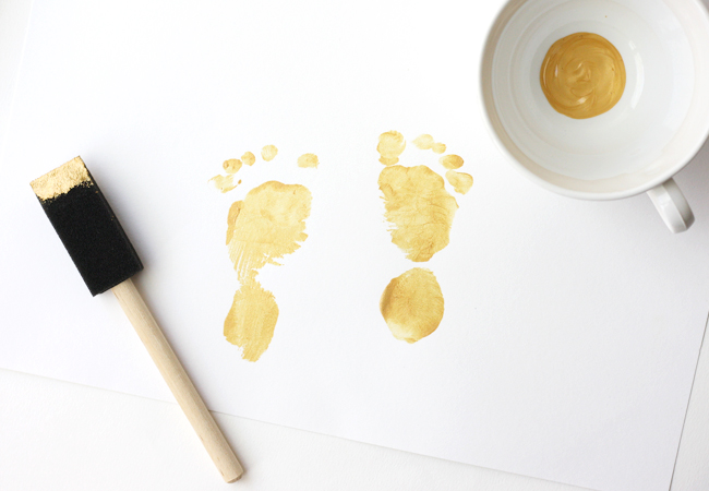 gold baby feet diy 6