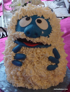 Abominable Snowman custom creative kid's birthday cake design