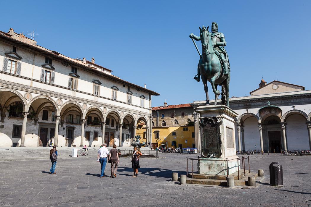 Флоренция - Площадь Сантиссима-Аннунциата