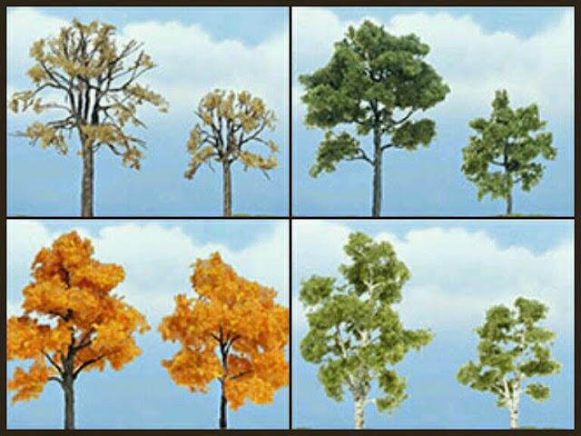 árboles Premium 2 unidades woodlandscenics