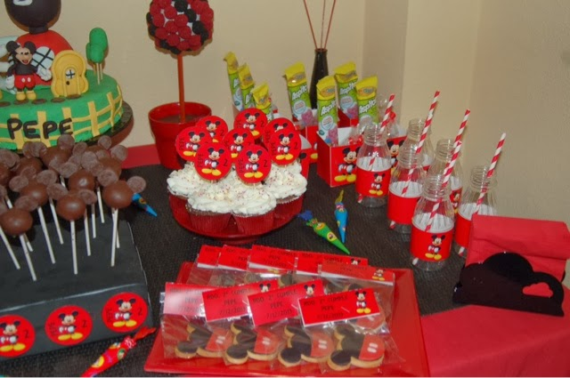 Mary cakes cookies mesa dulce cumplea os mickey mouse for Mesa de cumpleanos de mickey