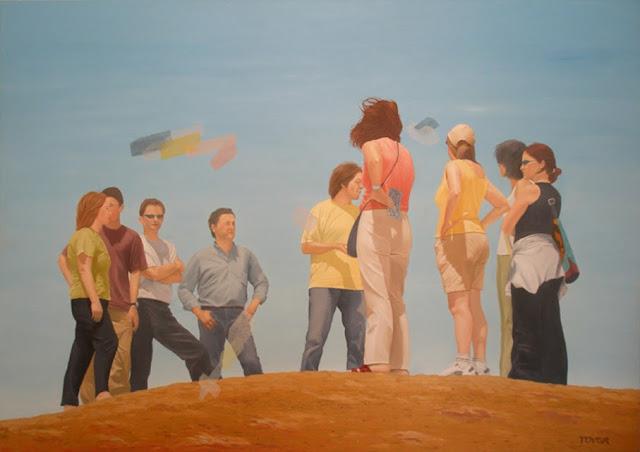 revelacion,pintura al óleo de angeles tovar