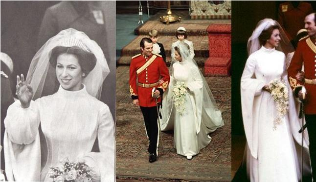 The Royal Order Of Sartorial Splendor Wedding Wednesday Princess Anne S Gown