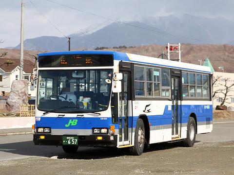 ジェイ・アール北海道バス 日勝線 531-8311 様似駅到着