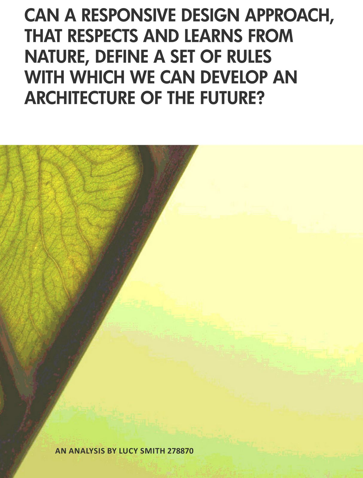 thesis on biomimicry Biomimicry: using nature as a model for design - scholarworks this thesis is brought to you for free and open access by the dissertations and theses at scholarworks.