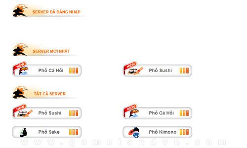 Phố Sushi xuất hiện trong Shinobi Online 2