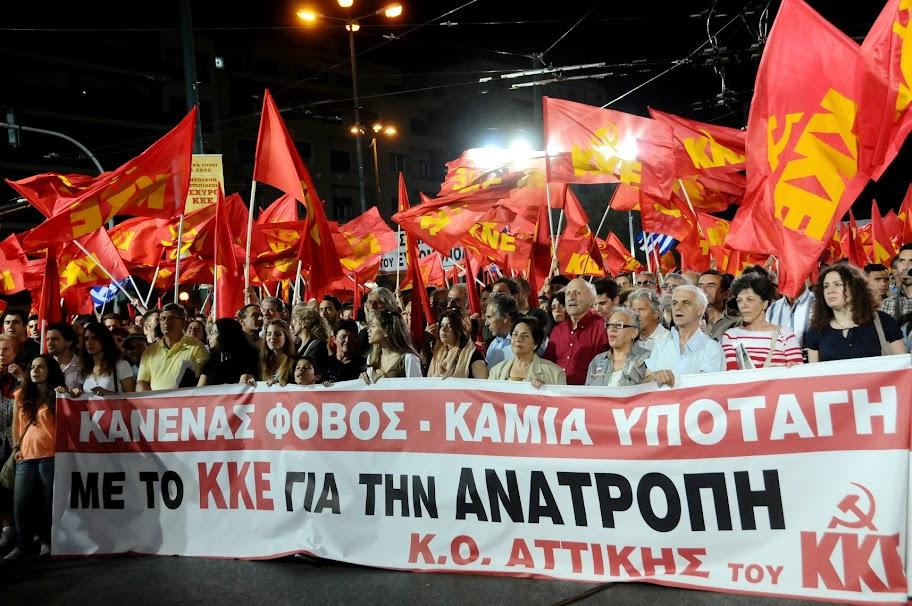 Z manifestace na podporu KKE