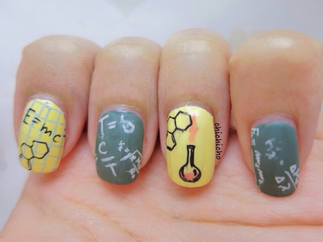 Physics and Chemistry Nail Art QA95 Image Plate